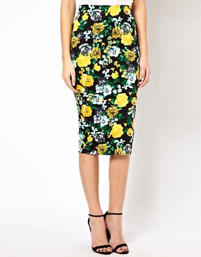 Image 4 ofASOS Pencil Skirt in Floral Print