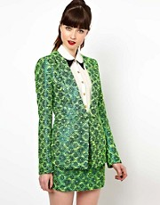 Sister Jane - Veste en tweed mtallis fluo