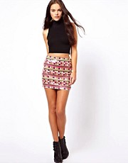 ASOS Mini Skirt In Aztec Festival Sequins