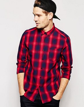 ASOS Shirt In Long Sleeve With Shadow Check