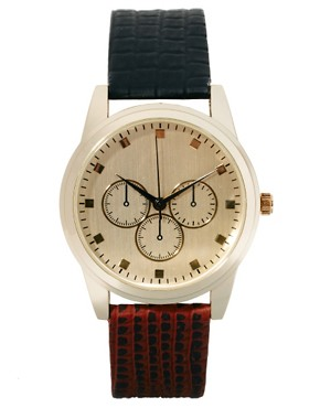 Image 1 ofASOS Two Colour Strap Watch