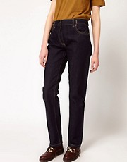 YMC - Boyfriend jeans in denim con cimosa