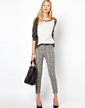 Image 1 ofWhistles Animal Jacquard Skinny Trousers