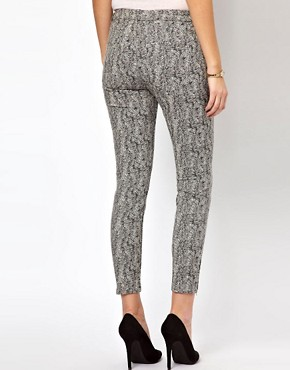 Image 2 ofWhistles Animal Jacquard Skinny Trousers