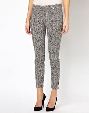 Image 4 ofWhistles Animal Jacquard Skinny Trousers
