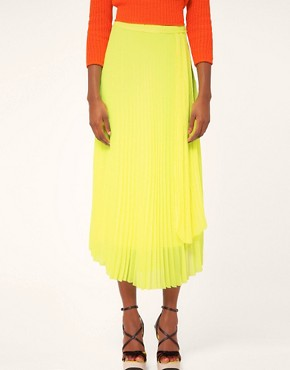 Image 4 ofMSGM Pleated Midi Skirt