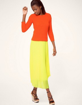 Image 1 ofMSGM Pleated Midi Skirt