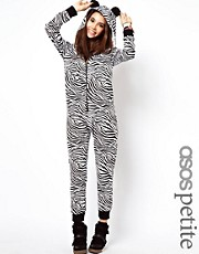 ASOS PETITE Exclusive Zebra Onesie