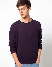 Selected Jumper With Fleck Print