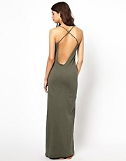 BA&SH Low Back Maxi Dress in Slub Jersey
