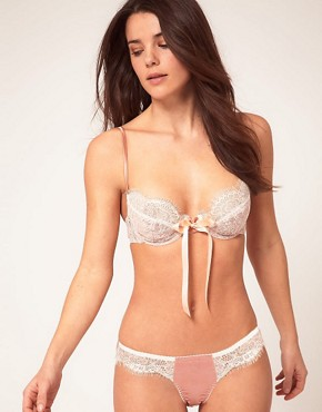 Image 4 ofGilda &amp; Pearl Lace &amp; Silk Tie Front Bra