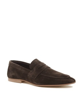 Image 1 ofASOS Penny Loafers in Suede