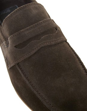 Image 2 ofASOS Penny Loafers in Suede