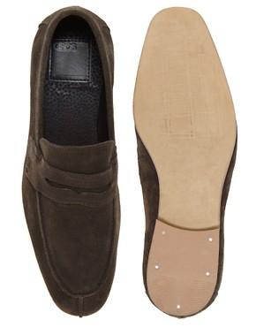 Image 3 ofASOS Penny Loafers in Suede