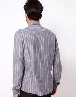 Image 2 ofASOS Chambray Shirt With Stripe