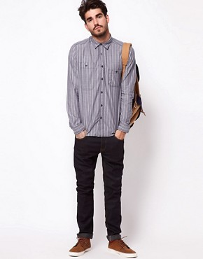 Image 4 ofASOS Chambray Shirt With Stripe