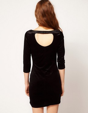 Image 2 ofVero Moda Open Back Velvet Mini Dress