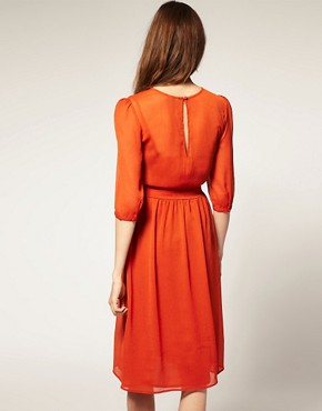 Image 2 ofASOS Midi Dress In Soft Chiffon