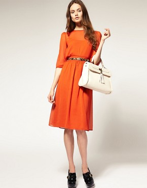 Image 4 ofASOS Midi Dress In Soft Chiffon