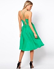 ASOS Sundress In Crepe With Tie Back