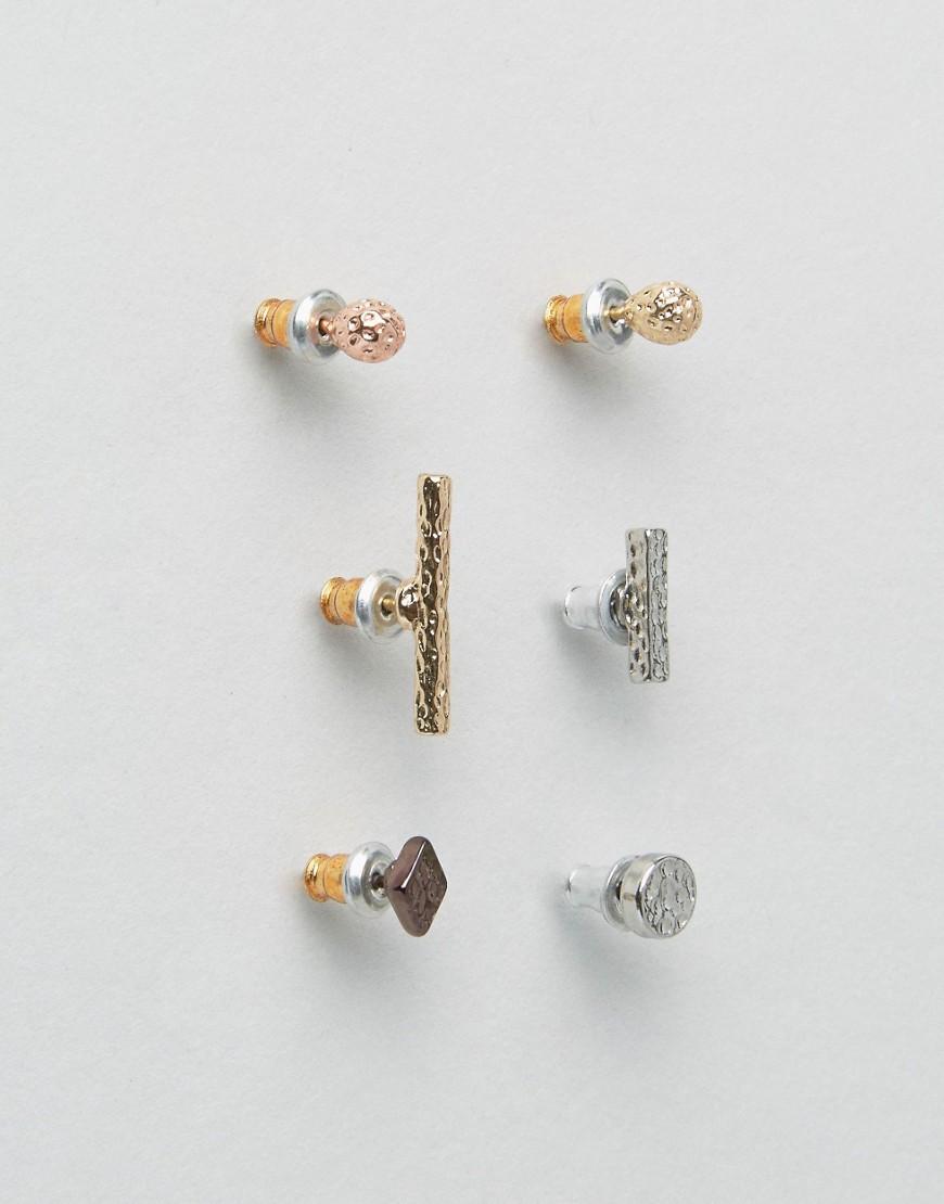 ASOS Hammered Ditsy Geometric Earrings