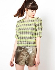 Sister Jane Garden Top in Tweed