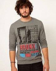 ASOS Sweatshirt With Bronx Print