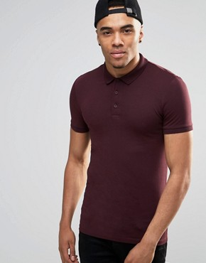 ASOS Extreme Muscle Fit Polo In Jersey