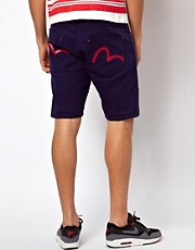 Evisu Shorts Nagahama 5 Pocket Painted Back Pocket