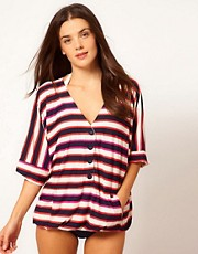 Marc By Marc Jacobs Field Stripe Button Cover Up