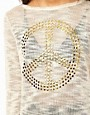 Image 3 ofASOS Jumper With Studded Peace Sign