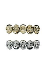ASOS Pack of Two Skull Barrettes