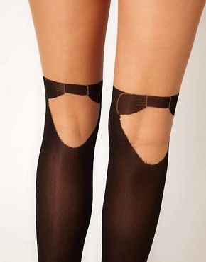 Image 2 ofPretty Polly Mock Hold Up Tights