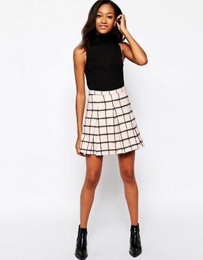 Image 1 of Warehouse Brushed Check Kilt Skirt