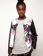 Lulu and Co Barry Reigate Printed Sporty Jacket with Contrast Sleeves