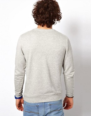 Image 2 ofASOS Sweatshirt With Bold Triangle Cut And Sew Detail