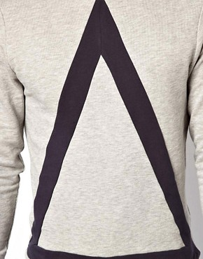 Image 3 ofASOS Sweatshirt With Bold Triangle Cut And Sew Detail