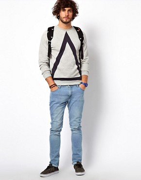 Image 4 ofASOS Sweatshirt With Bold Triangle Cut And Sew Detail