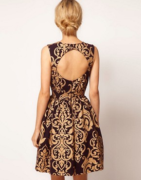 Image 2 of ASOS Dolly Dress in Baroque Print