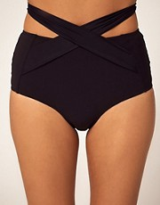 Mouille High Waisted Wrap Bikini Bottom