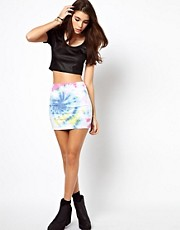 ASOS Mini Skirt in Tie Dye