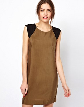 Image 1 ofFrench Connection Jet Drape Tunic Dress