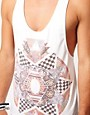 Image 3 of ASOS Vest With Pattern Clash Print