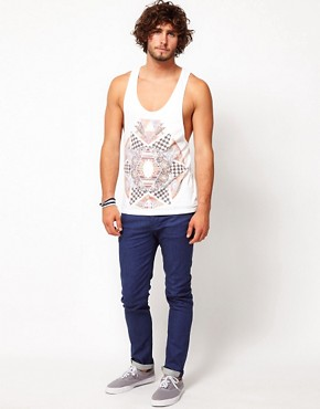 Image 4 of ASOS Vest With Pattern Clash Print