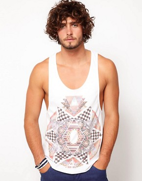 Image 1 of ASOS Vest With Pattern Clash Print