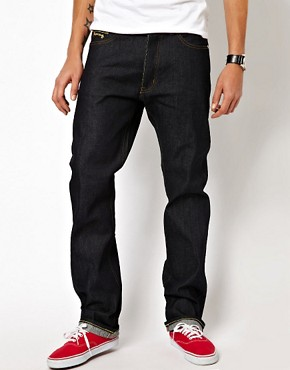 Image 2 ofMoney Jeans Blanks Regular Tapered Selvedge Gold Ape