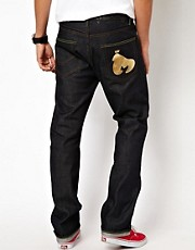 Money Jeans Blanks Regular Tapered Selvage Gold Ape