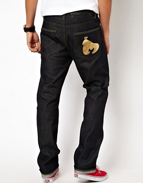 Image 1 ofMoney Jeans Blanks Regular Tapered Selvedge Gold Ape