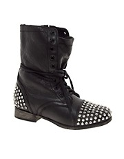 Steve Madden Tarnney Stud Lace Up Boots