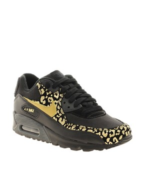 Image 1 ofNike Air Max 90 08 Gold Leopard Trainers